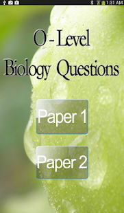 O-Level Biology - screenshot