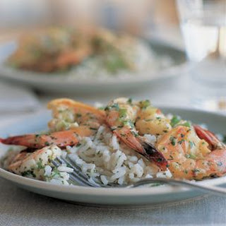 Lime Shrimp with Coconut Rice