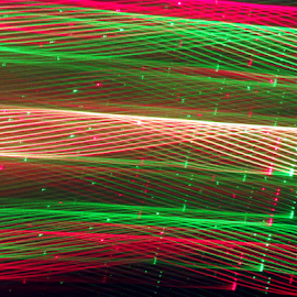 Rope ! by J. B. - Abstract Patterns ( laser light, laser generated picture, rope, colorful, laser design, laser, light show, light, tunnel )