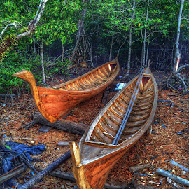 Making Boat by Ugie' Libra - Transportation Boats
