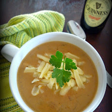 Harp and Guinness Stout Cheese Soup
