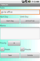 Screenshot of ToDoList