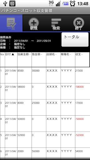 パチ・スロ収支帖アプリ