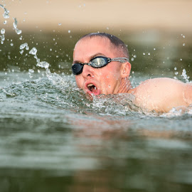 Swimming at the lake by Kimberly Arend Porter - Sports & Fitness Swimming ( model, fitness, lake, new york, swimming )