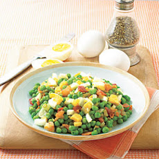 Pea Salad with Bacon and Eggs