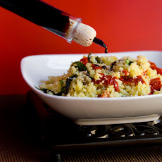 Sundried Tomato and Basil Couscous with Aceto Balsamico