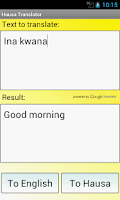 Screenshot of Hausa English Translator