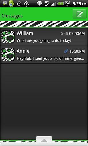 【免費個人化App】GO SMS THEME/GreenZebracpk-APP點子