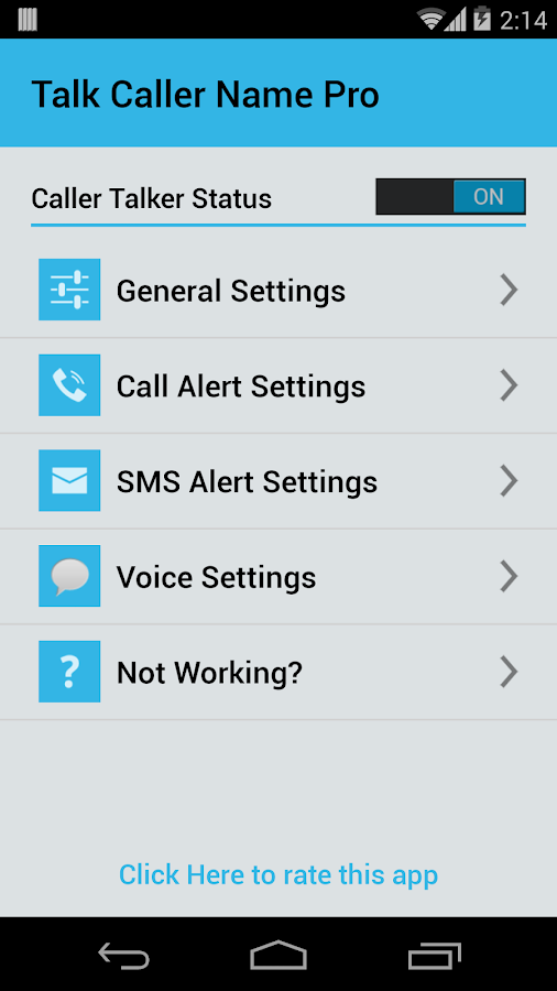 Talk Caller Name PRO Screenshot