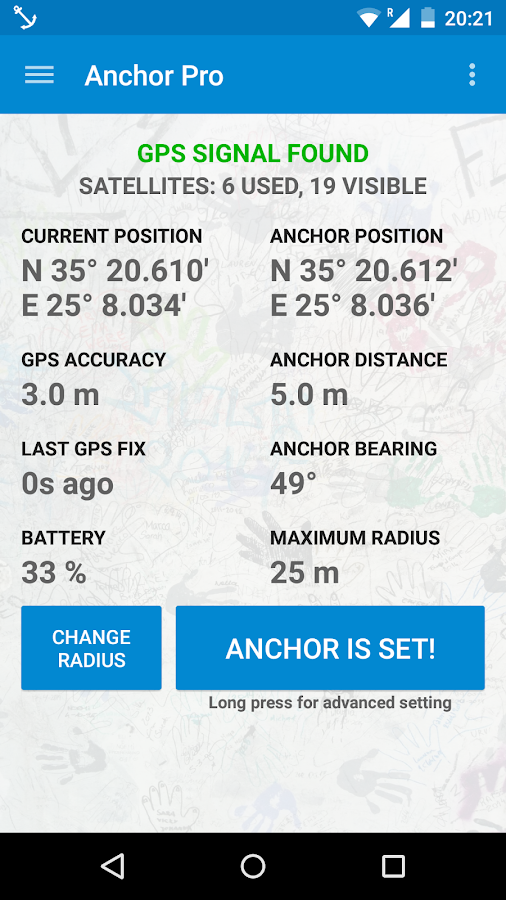 Anchor Watch Pro / Alarm Screenshot
