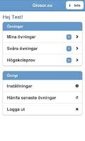 Screenshot of Glosor