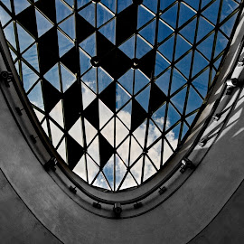 Blue by Péter Mocsonoky - Buildings & Architecture Architectural Detail ( sky, blue, dark, architecture, underground )