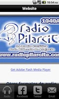 Screenshot of Radio Pilarcita