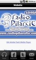 Screenshot of Radio Pilarcita