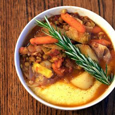 Rustic Winter Stew Over Polenta