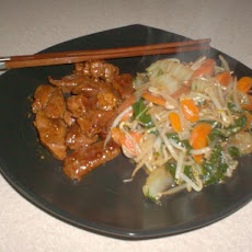Thai Glazed Pork and Stir-Fry (Low Carb)