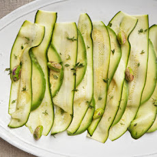 Patricia Wells' Zucchini Carpaccio with Avocado and Pistachios