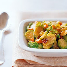 Sauteed Brussels Sprouts With Raisins