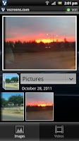 Screenshot of vscreens photo sharing beta