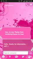Screenshot of SMS Pro Theme Pink Heart
