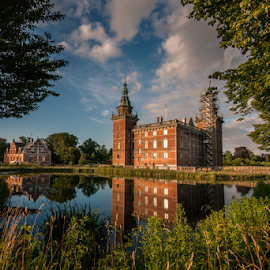 Marsvinsholm Castle by Mirza Buljusmic - Buildings & Architecture Public & Historical ( canon, clouds, marsvinsholm, sweden, skåne, nature, sverige, ystad, lake, castle, scania, 450d )