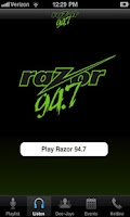 Screenshot of Razor 94.7