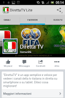Screenshot of DirettaTV Free