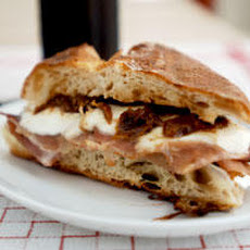 Mozzarella, Prosciutto, and Fig Jam Panino Recipe