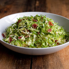 Shredded Brussels Sprout Caesar Salad