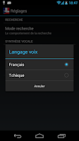 Screenshot of Offline French Czech Dict.