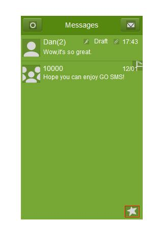 GO SMS Theme - Just Green