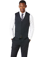 Perry Ellis Neat Suit Vest