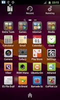 Screenshot of Go Ubuntu Launcher EX Theme