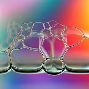 Fragile Beauty by Michael Schwartz - Abstract Macro ( macro, bubbles, soap, rainbow, colours, , color, colors, landscape, portrait, object, filter forge, colorful, mood factory, vibrant, happiness, January, moods, emotions, inspiration )