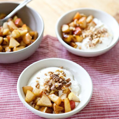 Whipped Yogurt with Apples and Walnuts
