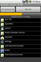 Screenshot of Task Killer ProMax Mini