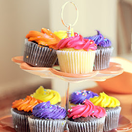 Colorful Cupcakes by Arthie Beighle - Food & Drink Cooking & Baking ( foods, food and drink, cupcakes, baking,  )