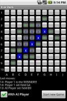 Screenshot of X or Zero