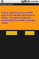 Screenshot of Chankay Quotes / Niti