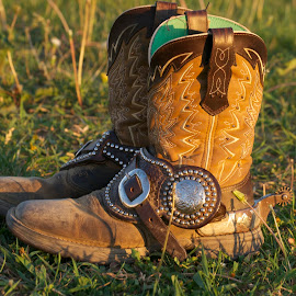 Boots and Spurs by Emily Nichols - Artistic Objects Clothing & Accessories ( bling, horse, spurs, cowgirl, boots )