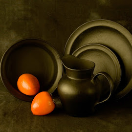 Black Pottery by Rakesh Syal - Artistic Objects Still Life