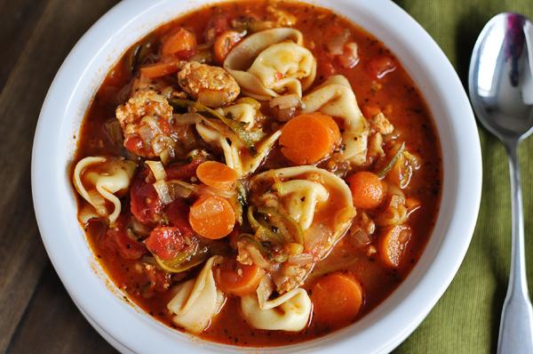 Tortellini Sausage Soup Recipe | Yummly