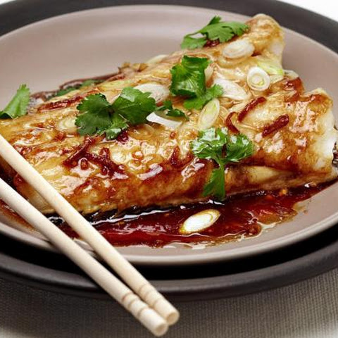 Ginger-Soy Steamed Fish