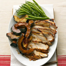 Molasses-Glazed Turkey Breast and Acorn Squash
