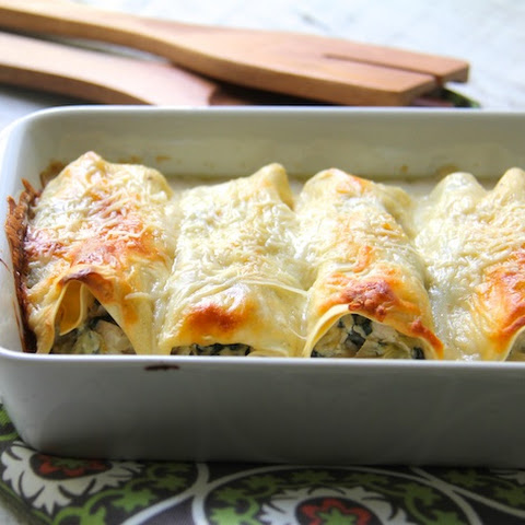 Chicken, Spinach and Artichoke Cannelloni