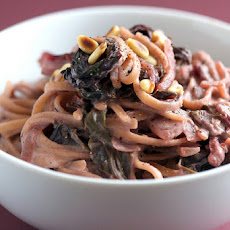 Creamy Red Chard Linguine