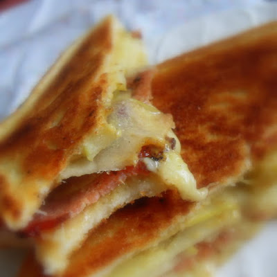 Grilled Apple, Bacon and Cheese Sarnie