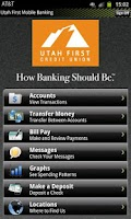 Screenshot of Utah First CU Mobile Banking