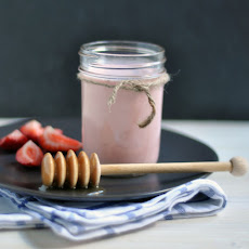 Strawberry-Ginger Kefir Shake