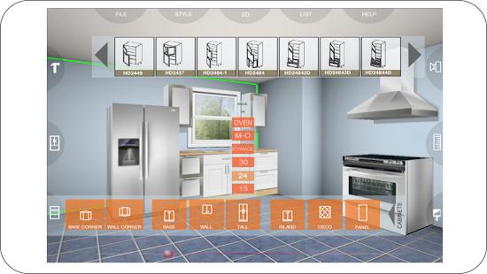 App udesignit kitchen 3d planner apk for windows phone for Planificador de cocinas 3d gratis